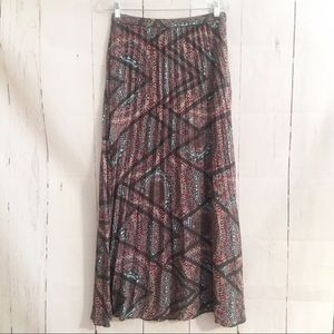 Anthropologie Lucy & Laurel Maxi Skirt Lined Boho